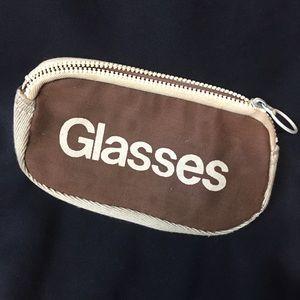 """Vintage Roger Gimbel Brown Glasses Case """"Glasses"""""""